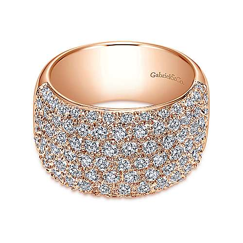 Gabriel - 14k Rose Gold Fancy Pavé Anniversary Band