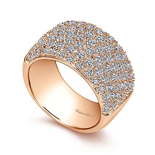 14k Rose Gold Fancy Pavé Anniversary Band