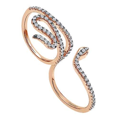 14k Rose Gold Fierce Fashion Ladies' Ring angle 3