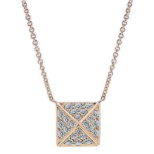 14k Rose Gold Fierce Fashion Necklace angle 1