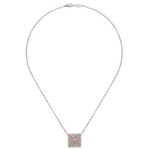 14k Rose Gold Fierce Fashion Necklace angle 2