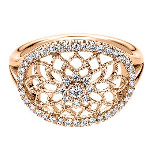 Gabriel - 14k Rose Gold Flirtation Fashion Ladies' Ring