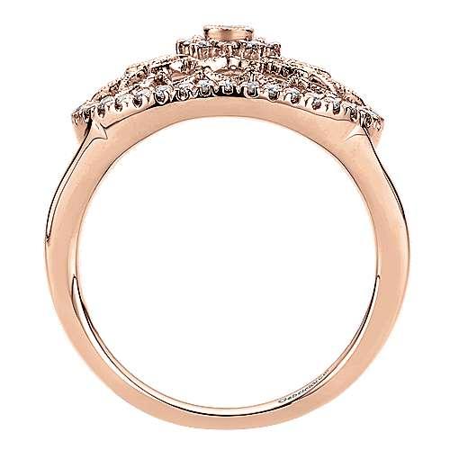 14k Rose Gold Flirtation Fashion Ladies' Ring angle 2