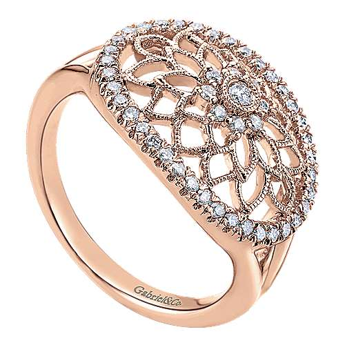 14k Rose Gold Flirtation Fashion Ladies