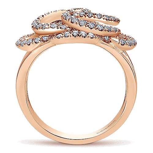 14k Rose Gold Flirtation Fashion Ladies