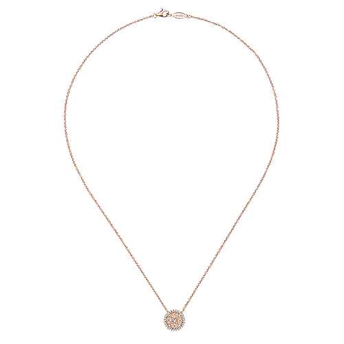 14k Rose Gold Flirtation Fashion Necklace angle 2
