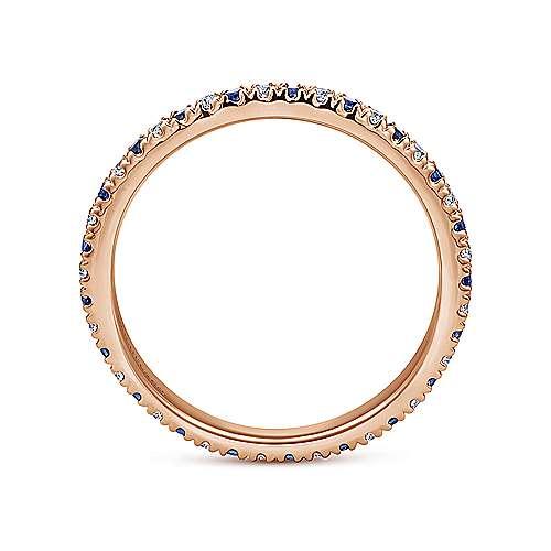 14k Rose Gold French Pavé Set