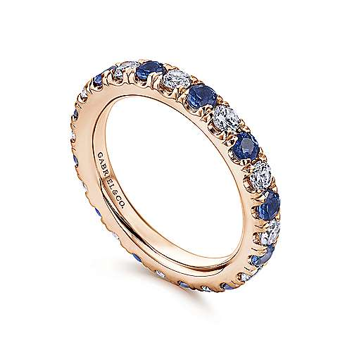 14k Rose Gold French Pavé Set