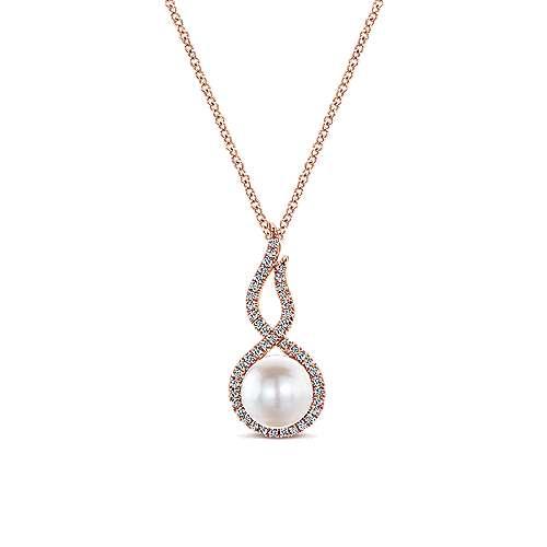 14k Rose Gold Grace Fashion Necklace angle 1