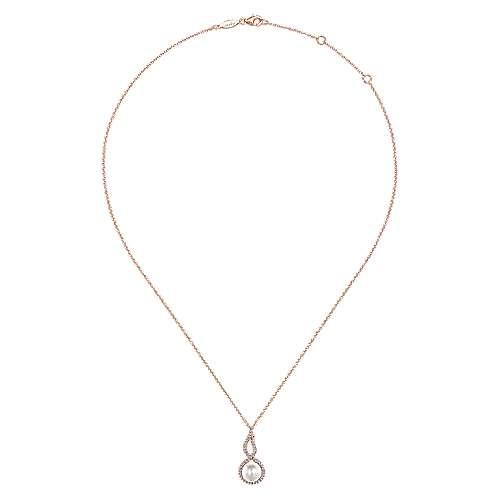14k Rose Gold Grace Fashion Necklace angle 2