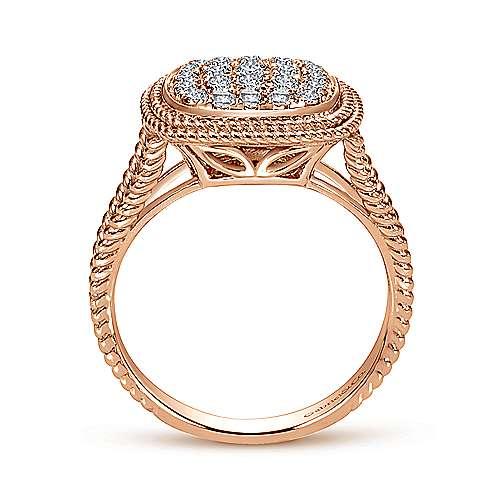 14k Rose Gold Hampton Classic Ladies' Ring angle 2