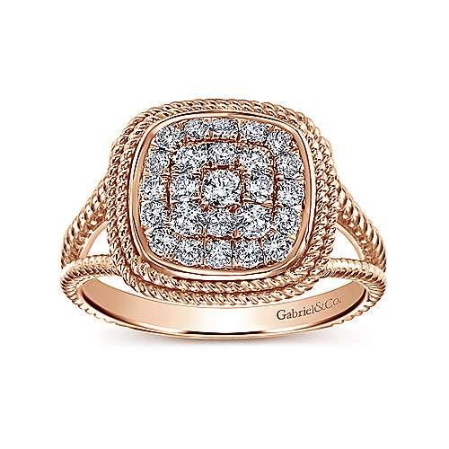 14k Rose Gold Hampton Classic Ladies' Ring angle 4