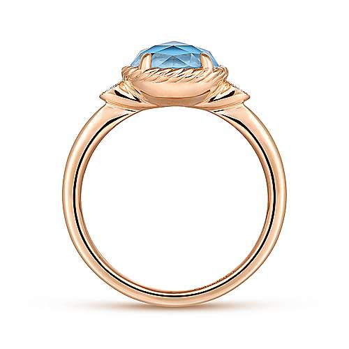 14k Rose Gold Hampton Fashion Ladies' Ring angle 2