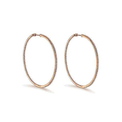 Gabriel - 14k Rose Gold Hoops Classic Hoop Earrings