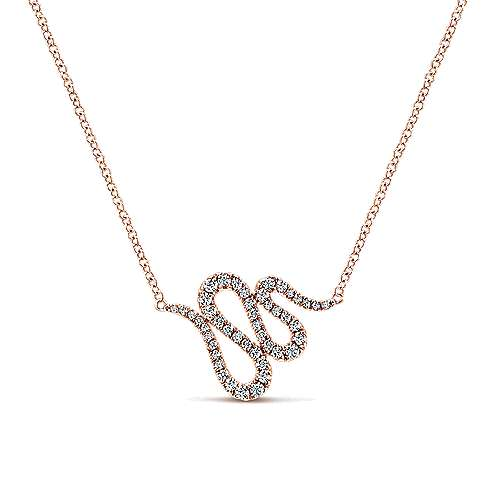 14k Rose Gold Indulgence Bar Necklace angle 1