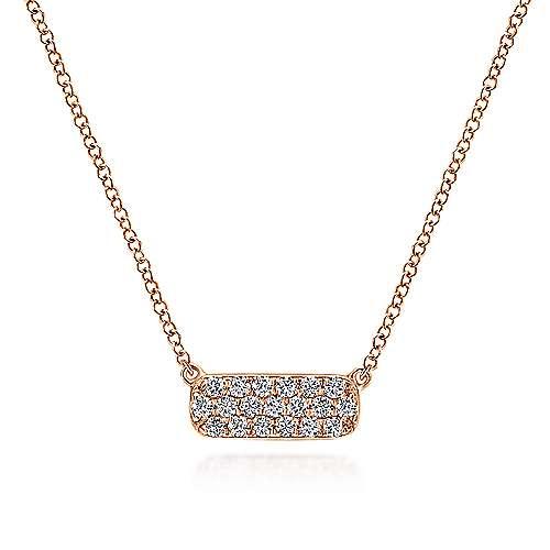 Gabriel - 14k Rose Gold Indulgence Bar Necklace