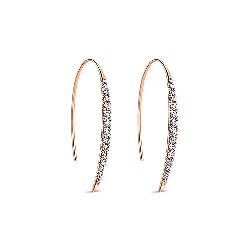 14k Rose Gold Kaslique Drop Earrings angle 2