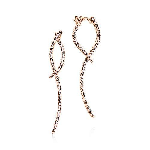 Gabriel - 14k Rose Gold Kaslique Drop Earrings