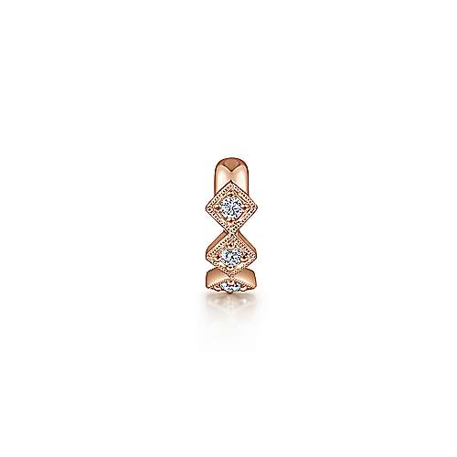 14k Rose Gold Kaslique Earcuffs Earrings angle 2