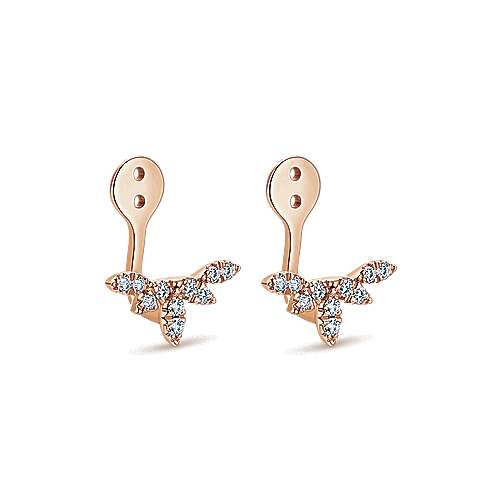 14k Rose Gold Kaslique Enhancer Earrings angle 2