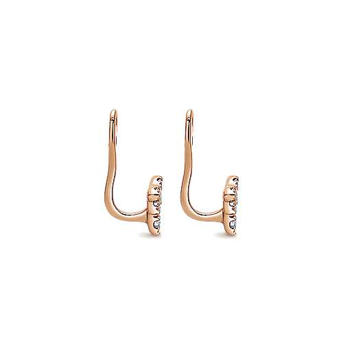 14k Rose Gold Kaslique Enhancer Earrings angle 3