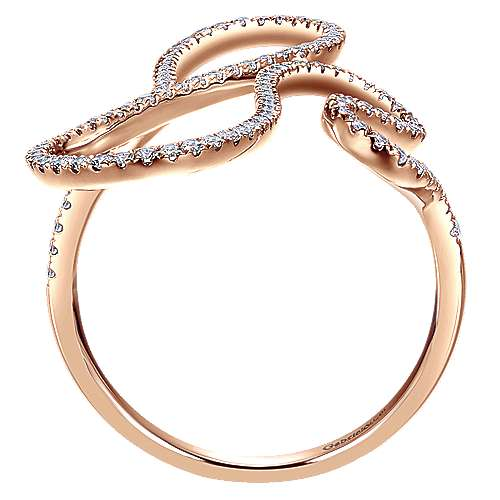 14k Rose Gold Kaslique Fashion Ladies