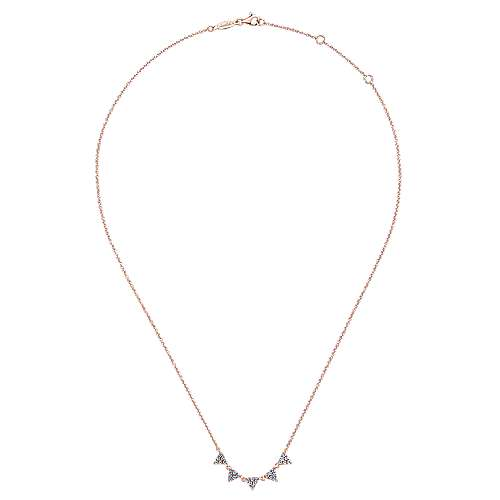 14k Rose Gold Kaslique Fashion Necklace angle 2