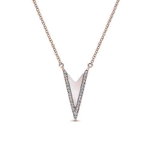 14k Rose Gold Kaslique Fashion Necklace