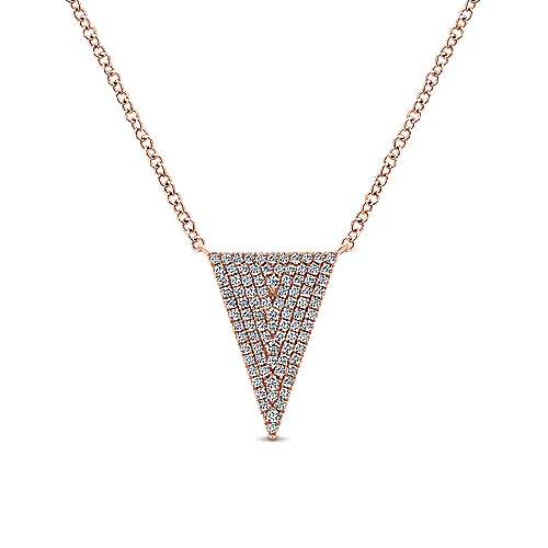 14k Rose Gold Kaslique Fashion Necklace angle 1