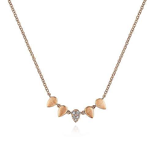 14k Rose Gold Kaslique Fashion Necklace angle 1