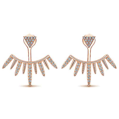 14k Rose Gold Kaslique Peek A Boo Earrings