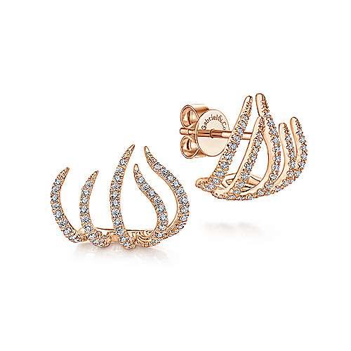 Gabriel - 14k Rose Gold Kaslique Stud Earrings