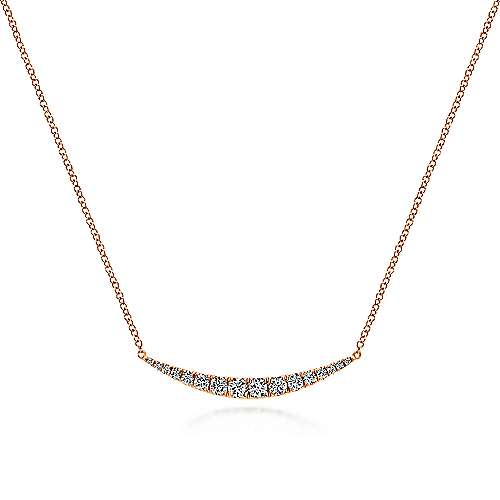Gabriel - 14k Rose Gold Lusso Bar Necklace