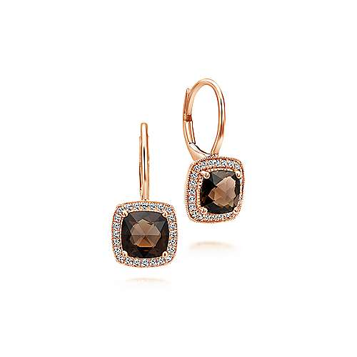 14k Rose Gold Lusso Color Drop Earrings