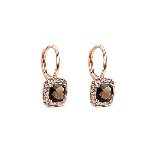 14k Rose Gold Lusso Color Drop Earrings angle 2