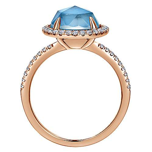 14k Rose Gold Lusso Color Fashion Ladies' Ring angle 2