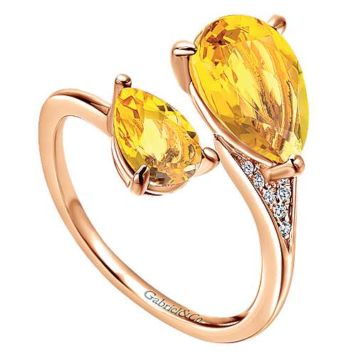 14k Rose Gold Lusso Color Fashion Ladies' Ring angle 3