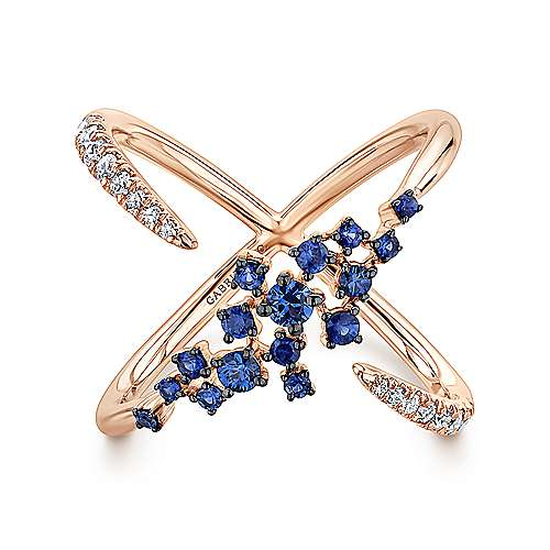 Gabriel - 14k Rose Gold Lusso Color Fashion Ladies' Ring