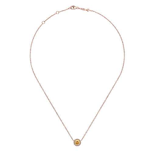 14k Rose Gold Lusso Color Fashion Necklace angle 2
