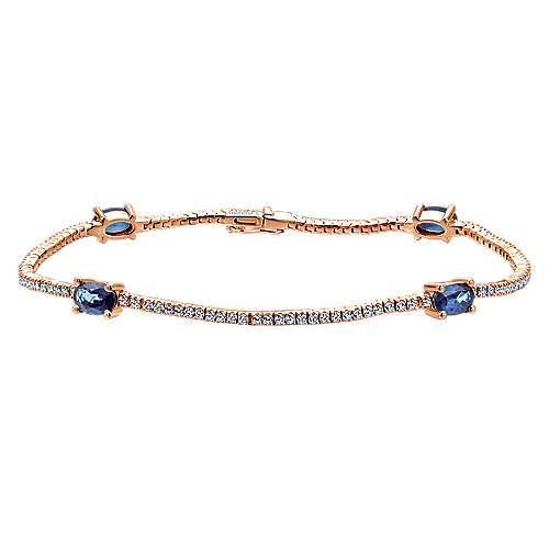 14k Rose Gold Lusso Color Tennis Bracelet