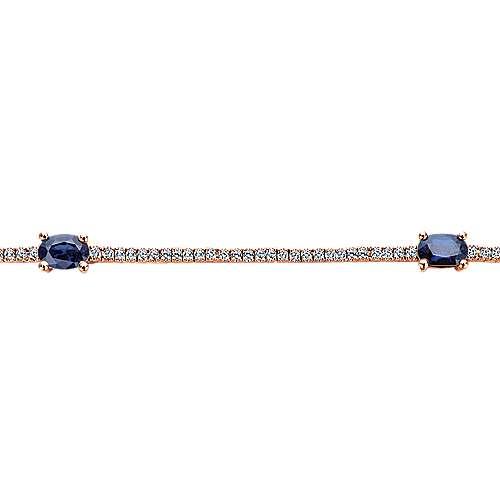 14k Rose Gold Lusso Color Tennis Bracelet angle 2