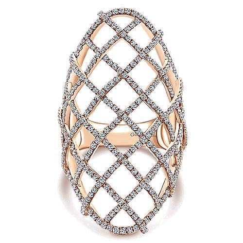 Gabriel - 14k Rose Gold Lusso Diamond Fashion Ladies' Ring