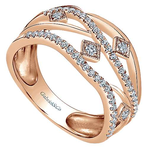 14k Rose Gold Lusso Diamond Fashion Ladies