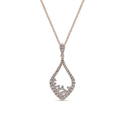 14k Rose Gold Lusso Diamond Fashion Necklace angle 1