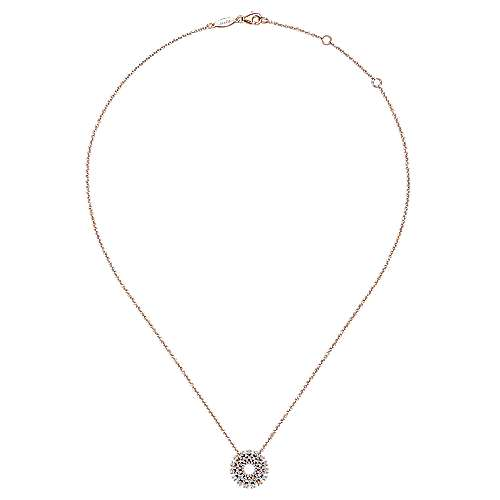 14k Rose Gold Lusso Diamond Fashion Necklace angle 2