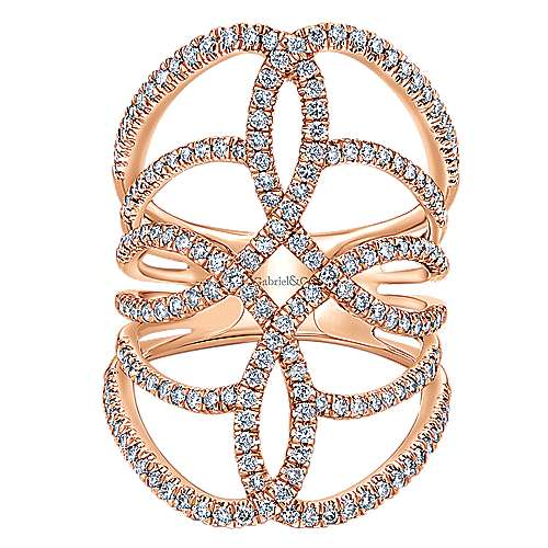 Gabriel - 14k Rose Gold Lusso Diamond Statement Ladies' Ring