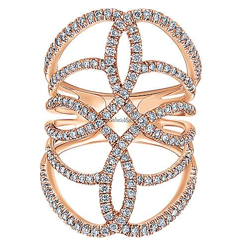 14k Rose Gold Lusso Diamond Statement Ladies