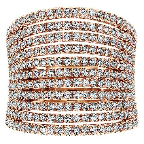 14k Rose Gold Lusso Diamond Wide Band Ladies