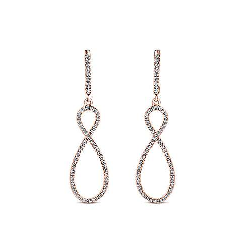 Gabriel - 14k Rose Gold Lusso Drop Earrings