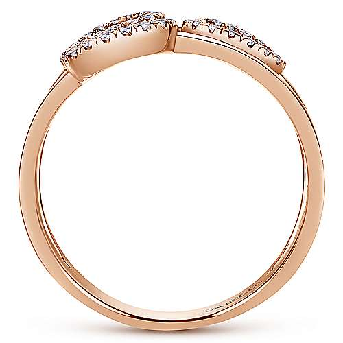 14k Rose Gold Lusso Fashion Ladies' Ring angle 2